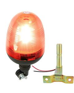 HQRP Flexible Pipe Mount / Low Profile Amber Beacon Emergency Hazard Warning Safety LED Strobe Lights plus HQRP Coaster