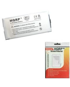 HQRP Replacement Battery for Sandisk Sansa C200 C240 C250 MP3 Player plus HQRP Universal Screen Protector