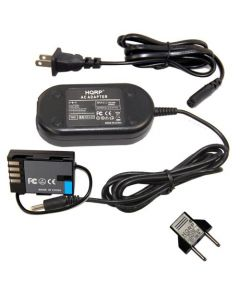 HQRP AC Power Adapter for Panasonic DMW-DCC12 DMW-AC8PP fits Lumix DMC-GH3 DMC-GH4 DMC-GH3K DMC-GH4K Digital Camera, DMW-BLF19PP plus Euro Plug Adapter