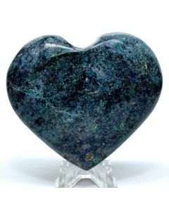 """Reserved for MEREDITH - 2.8"""" Rich Blue Kyanite in Rybu Fuchsite Heart Polished Gemstone Crystal - India"""